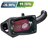 S&B Filters 75-5104 Cold Air Intake For 2011-2016 Ford Powerstroke 6.7L (Oiled Cleanable, 8-ply Cotton Filter)