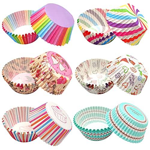 ZJW 600pcs Papel para Magdalenas, Papel Molde Muffin Cases, Papel para Cupcakes Capsulas Cupcakes - moldes para Hornear, moldes de Silicona, moldes para pastelería