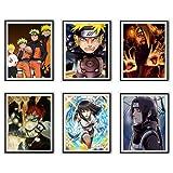 Hokage X Ninja Deidara Itachi Hyuga - Impresión artística para pared, 20,3 x 25,2 cm, sin marco, juego de 6 unidades