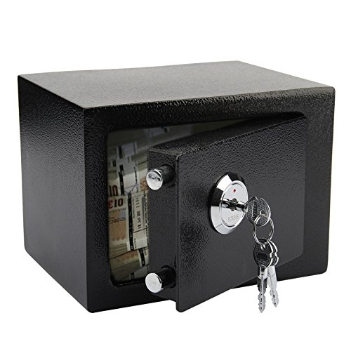 Mutiwill Safety Box High Security Steel Lock Safes Home Office Money Cash...