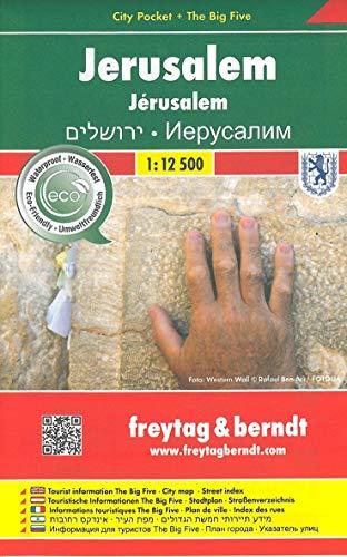 Jerusalem, Stadtplan 1:12.500, City Pocket + The Big Five (freytag & berndt Stadtpläne)
