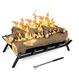 Regal Flame 24 Inch Convert to Ethanol Fireplace Log Set with Burner Insert from Gel or Gas Logs (Oak)