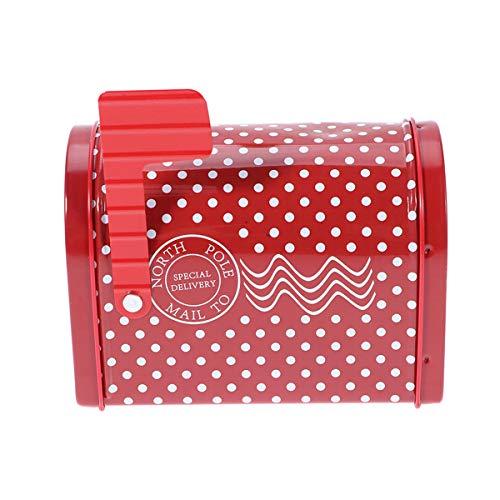 Amosfun cassetta postale americana cassette postali per esterno posta americanbox della Contenitore di regalo a tema natalizio Cassetta postale Contenitore di latta creativo per decorazione