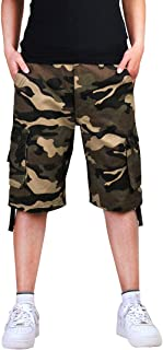 yellow camouflage shorts