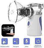 Nébuliseur Inhalateur Nébulisateur Silencieux Portable Rechargeable Alimenté par USB Efficace pour Adultes et Enfants avec Embouchure
