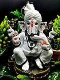 Pagdi Ganesh Statue in Pristine White 12 Inches | Ganpati | Ganesha chaturthi idol | Figurine | Murti with amazing attention to details