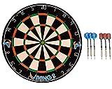 Securia Pro Viking 2 - Bersaglio per freccette classico, multicolore, con 6 freccette in acciaio