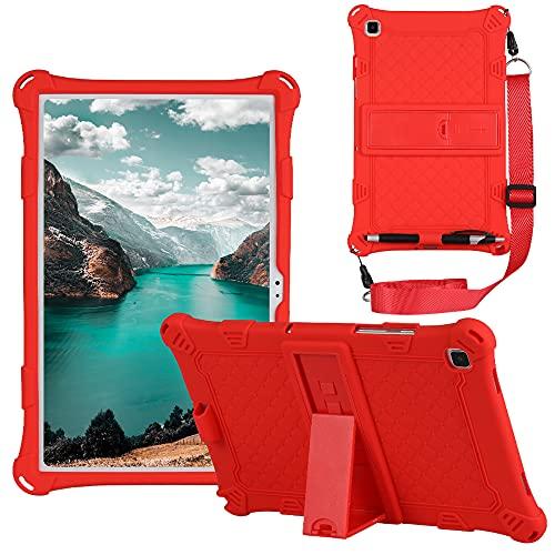 Funda para tablet Samsung Galaxy Tab A7 10.4 2020 T500 T505 T507 Slim Soft Silicona A Prueba de Golpes Funda Protectora de Cuerpo Completo Cubierta de la Cubierta de la Lápiz Lápiz y Correa de Hombro