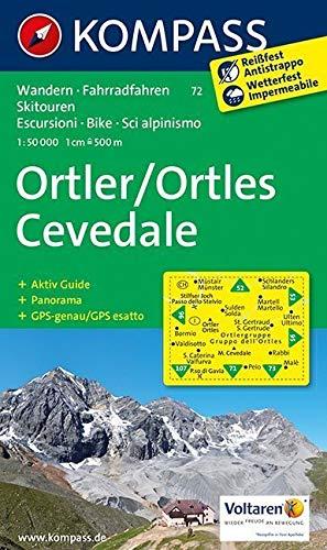 Ortler /Ortles - Cevedale: Wanderkarte mit Aktiv Guide, Panorama, Rad- und alpinen Skirouten. GPS-genau. 1:50000.: Wandelkaart 1:50 000 (KOMPASS-Wanderkarten, Band 72)