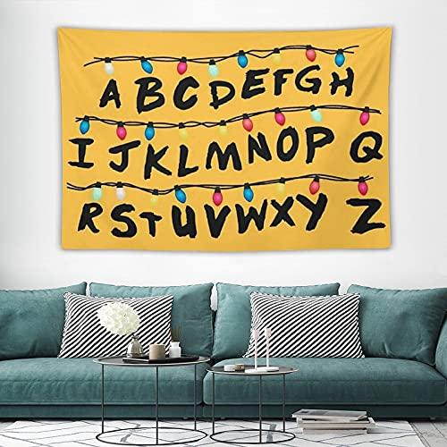 Tapisserie Tenture murale Alphabet Tapisserie murale Décorations pour la maison pour le salon Chambre Dortoir Décor en 150x100cm