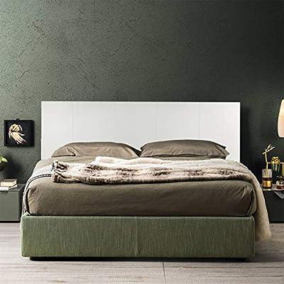 Cabecero de cama de piel sintética blanca Fabricado en Italia. El cabecero está totalmente diseñado y fabricado en Italia. El diseño es sencillo y elegante con diseño de rayas verticales fácilmente adaptable a cualquier estilo de decoración. Montaje ...