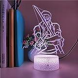 Trendy Loronoa Zoro Warrior 3d luz led panel de acrílico creativo lámpara de mesa pequeña multicolor luz ambiental luz de noche LED luz decorativa base de grieta preferida