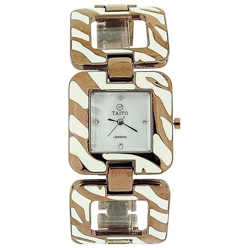 Taito London TLC1Bronze - Reloj para Mujeres, Correa de Metal Multicolor