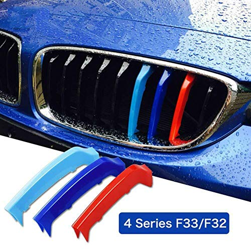 F/ür kompatibel mit B M W Z4 E89 2009 2017 9 Balken einclipsen K/ühlergrill Kappe Schnalle Streifen Trim M Power Sport Tech Performance Auto Fahrzeug Styling Tuning