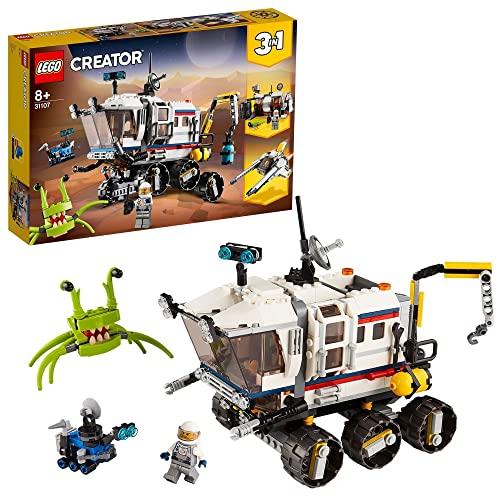 LEGO 31107 Creator 3en1 Róver Explorador Espacial, Base Espacial o Astronave,...