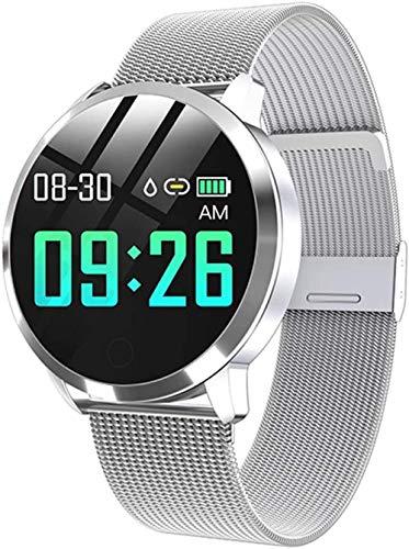 Reloj inteligente Rose con pantalla OLED a color, reloj inteligente para hombres y mujeres, moda de fitness, monitor de frecuencia cardíaca, podómetro, -G