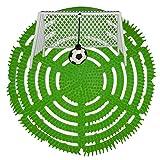 Urinalsieb Klokicker, Urinalsieb mit Fußball-Tor, Pissoir-Einsatz, Urinaleinsatz parfümiert mit Spritzschutz, Farbe:grün, Größe:2 Stück