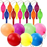 RUBFAC 80 Punch Balloons, Neon Punching Balloons 18 Inches, Assorted Colors Punch Balls Party Favors for Daily Games, Weddings, Classroom Decoration with Rubber Band Handles,