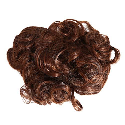 GOMYIE Court désordonné bouclé Plat Cheveux Chignon Extension Peigne de Cheveux Extensible Facile Clip dans Le Plateau d'extension de Queue de Cheval postiches en Queue de Cheval (# M2)