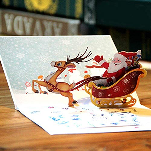 Gspirit 3D Christmas Cards Pop Up Greeting Cards & Envelope Gifts for Xmas