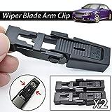 Clip de retención de la cuchilla del brazo del limpiaparabrisas delantero de 2 piezas para Serie 5 E39 para A4 B6 8E / 8H 607 Saloon Accesorios para automóviles