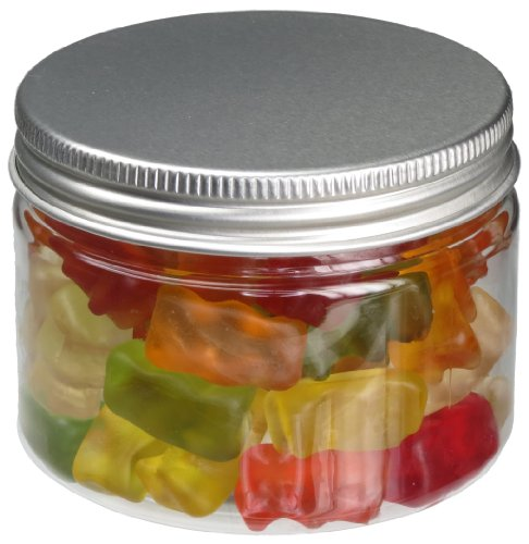 Pot de PET 200 ml transparent, avec couvercle en aluminium, 50 pièces