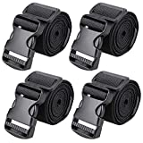 MAGARROW 65' × 1.5' Utility Straps with Buckle Adjustable, 4-Pack (Black (4-PCS))