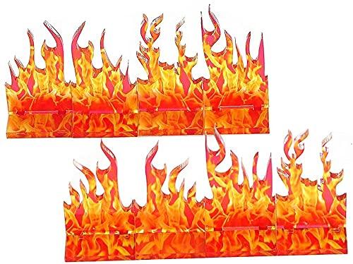 Wall of Fire - Juego de 8 efectos de hechizo para D&D, mazmorras y dragones, Pathfinder y otros RPG de mesa