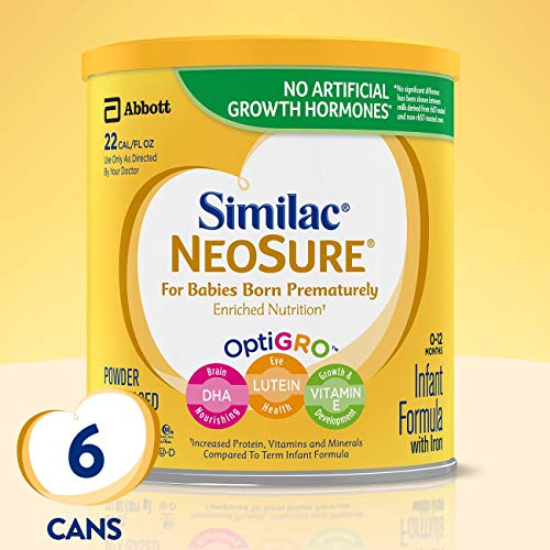 Similac NeoSure Infant Formula with Iron, For Babies Born Prematurely, Powder, 13.1 ounces (Pack of...