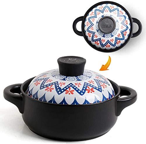 DUDDP Cacerola Cocinar  Nutrición de la Olla Nutrición de la sartén Antideslizante Casserole Pot SART Pan de Engrosamiento Potes Grandes Wok con Tapa de la Tapa (Color : C, Size : 1.5L)