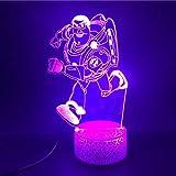3D Lampe Atmosphäre Cartoon Spielzeug Geschichte Buzz Lichtjahr die Wecker Basis hübsches Geschenk batteriebetriebene USB LED Nachtlichtlampe