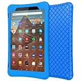 MoKo Case for All-New Fire HD 10 Tablet (7th Generation/9th Generation, 2017/2019 Release), Shockproof Soft Silicone Back Cover [Kids Friendly] for Fire HD 10.1', Blue