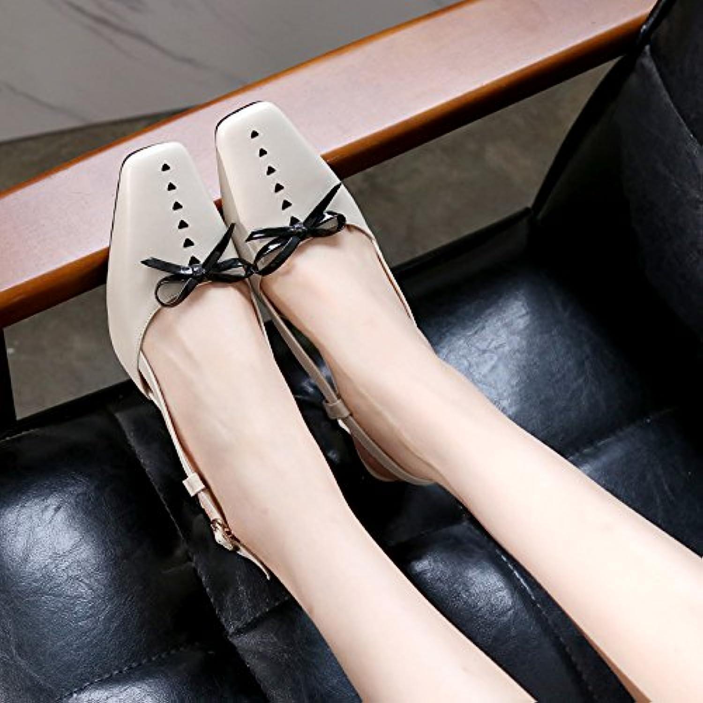 Leder - Sandalen, Neuer Stil, Sommer, Baotou, Baotou, Baotou, Mode Und Mode,Beige,Eu38Cn39, B072X68WX6  Der neueste Stil 7969bf