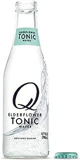 Q Mixers Elderflower Tonic Water, Premium Cocktail Mixer, 6.7 oz (24 Bottles)