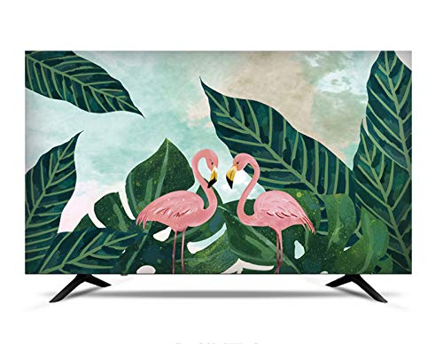 MFMYUANHAN Cubierta de TV Smart LCD LED TV a Prueba de Polvo y a Prueba de Sol Cubierta de Pantalla a Prueba de Polvo (Flamingo 27 pulgadas-80 Pulgadas)(Color:3#,Size:37in)