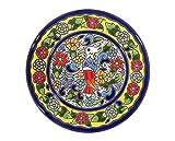 Dekorative Teller für die Wand, handbemalt mit der Technik des Trockenseils, Andaluza-Keramik, Gravur und spanische Keramik, 14 cm. 51406
