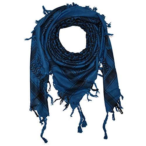 Superfreak Palituch - blau-ultramarin - schwarz - 100x100 cm - Pali Palästinenser Arafat Tuch - 100% Baumwolle