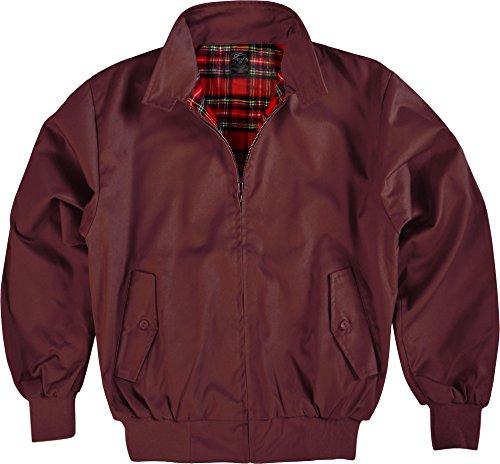 GearUp Original Harrington Jacke English Style in 12 verschiedenen Designs wählbar Farbe Bordeaux Größe L
