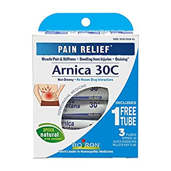 Boiron Arnica Montana 30C 3 Tubes  80 Pellets per Tube  Homeopathic Medicine for Pain Relief