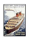 Leinwandbild, Cunard White Star – Queen Mary und Queen