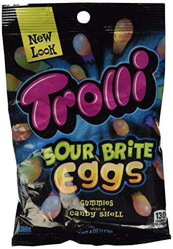 Trolli Sour Brite Crawler Eggs Gummi Candy - 4 Oz Bag