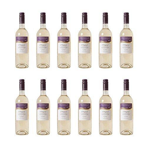 12er Vorteilspaket Colombelle Vin de Pays des Cotes de Gascogne Weißwein Frankreich 2019 trocken (12x 0.75 l)