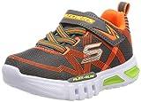 Skechers Boys' Felx-Glow Trainers, Grey (Charcoal Orange Ccor), 7 (24 EU)