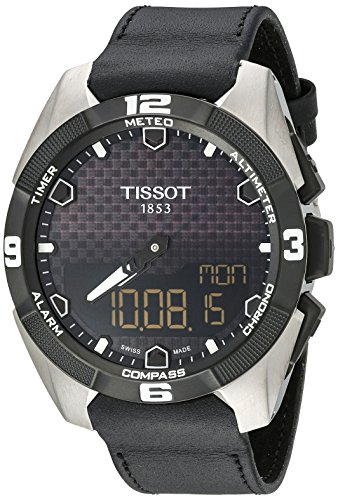 Tissot Men's T091.420.46.051.00 'T Touch Expert' Black Dial Black Leather Strap Multifunction Swiss Quartz Watch