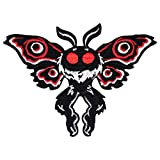 Winks For Days Mothman Cryptid Creature Embroidered Iron-On Patch