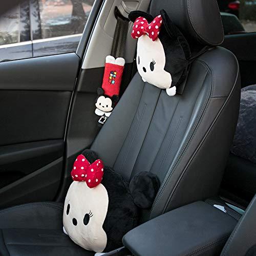 RAP Auto-nekkussen, schattige hoofdsteun, een paar auto-cartoonkussen, autokussen met creatieve decoratie voor het bovenlichaam in de auto Minnie hoofdsteun + bovenlichaam + schouderbescherming
