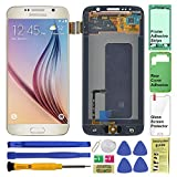 Display Touch Screen (AMOLED) Digitizer Assembly with Home Button for Samsung Galaxy S6 (5.1 inch) G9200 G920A G920P G920T G920V G920R4 G920F G920I G9208 G920K G920L G920S (Gold)