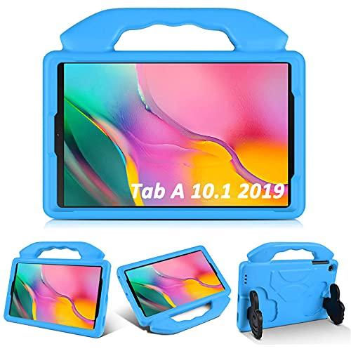 KATUMO Funda para niños para Samsung Galaxy Tab A 10.1 '(2019) SM-T510 / T515, Soporte Plegable a Prueba de Golpes EVA Funda Protectora Ligera para Tableta para Galaxy Tab A 10.1 Pulgadas ,Azul
