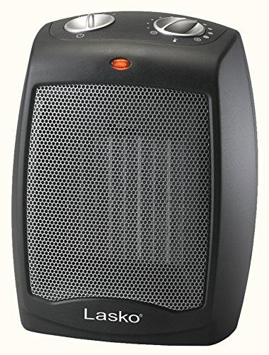 Lasko CD09250 Ceramic Adjustable Thermostat Tabletop or Under-Desk Heater, Black