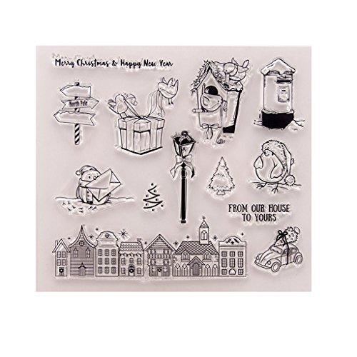 KOFUN DIY Scrapbooking Francobolli Foil Carta Regalo Fai da Te Artigianato per Scrapbooking Photo Album Decor Fai da Te Timbro in Silicone Pretty Girl A